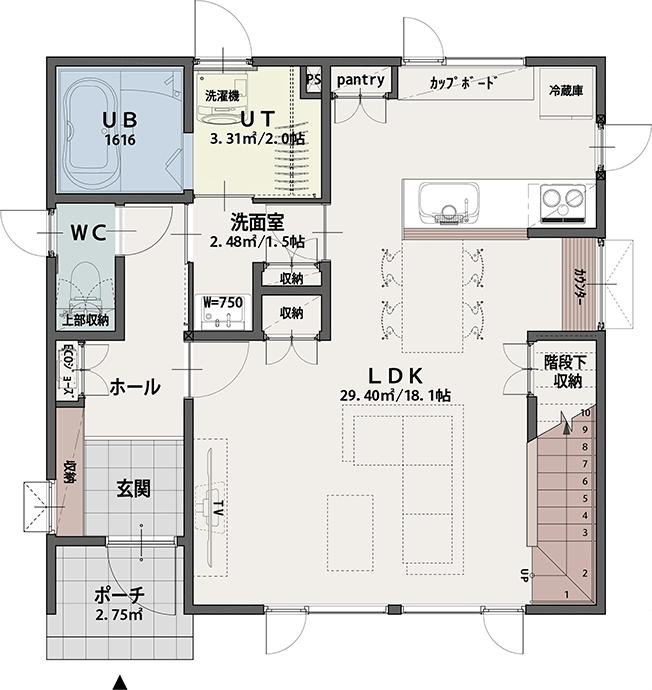 PLAN A 1階平面図