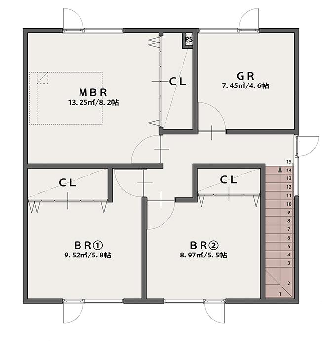 PLAN A 2階平面図