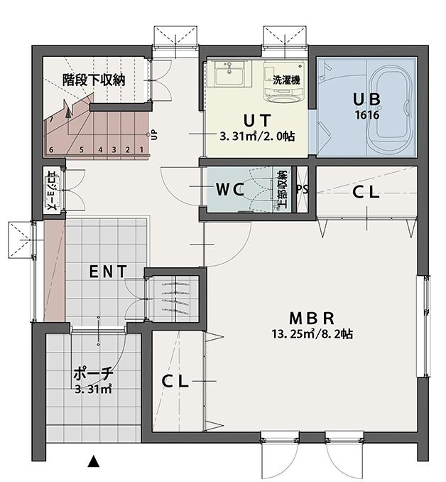 PLAN B 1階平面図