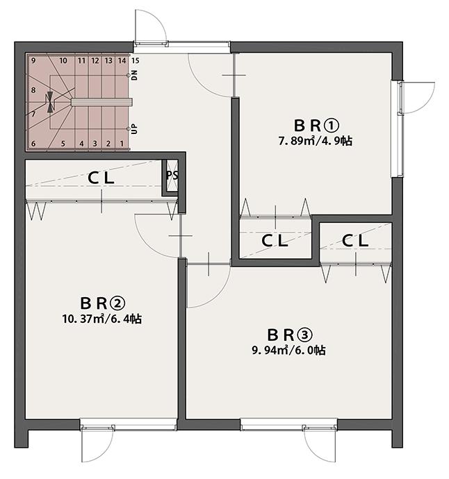 PLAN B 3階平面図