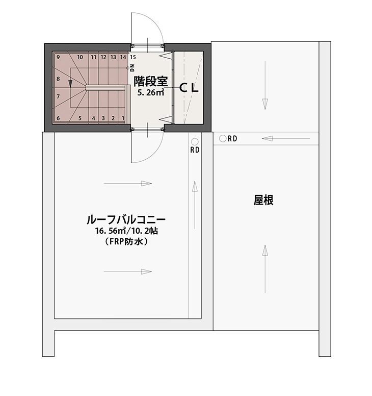 PLAN B PH階平面図